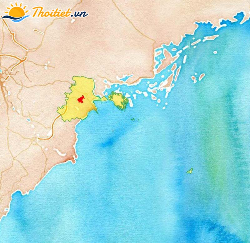 Bản đồ địa giới, vị trí của quận Kiến An