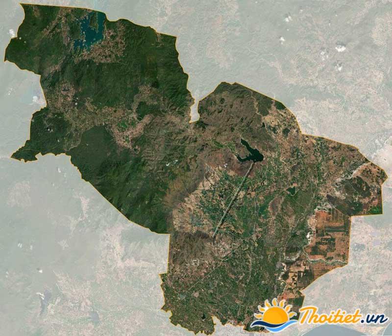 Bản đồ vệ tinh của huyện Hàm Thuận Bắc