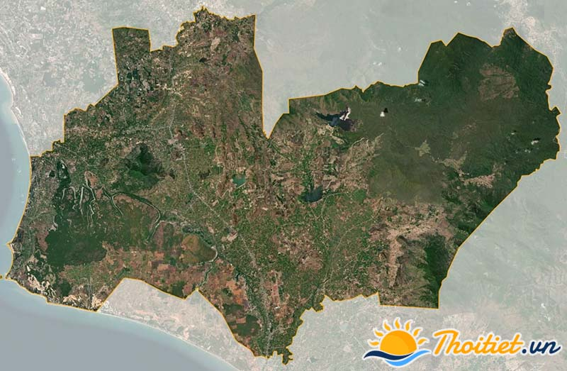 Bản đồ vệ tinh của huyện Hàm Thuận Nam