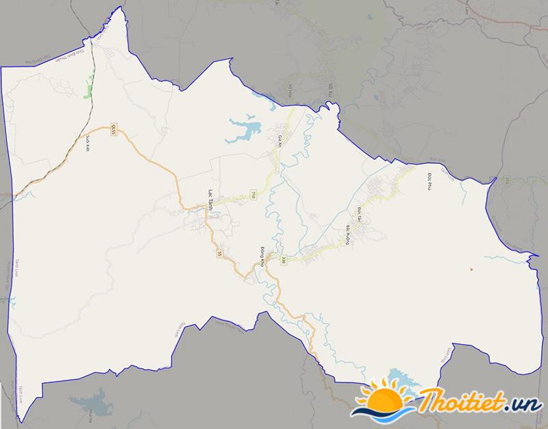 Bản đồ giao thông của huyện Tánh Linh