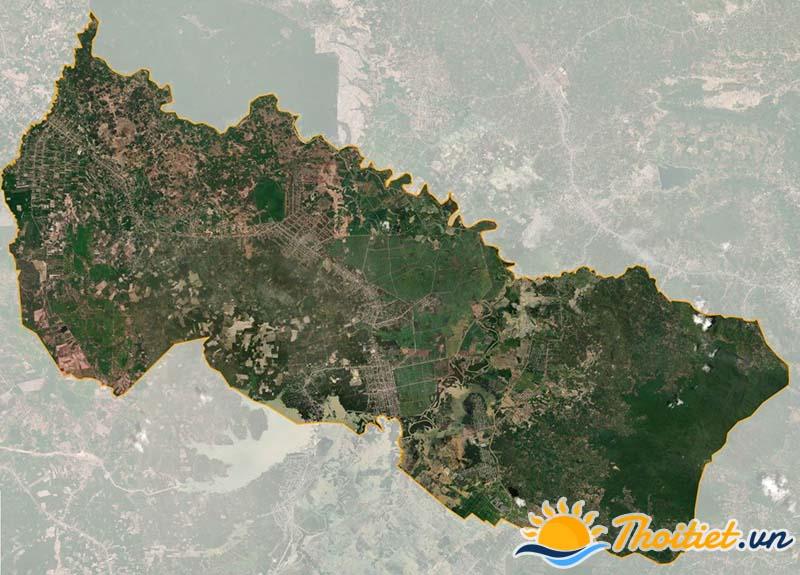 Bản đồ vệ tinh của huyện Đức Linh