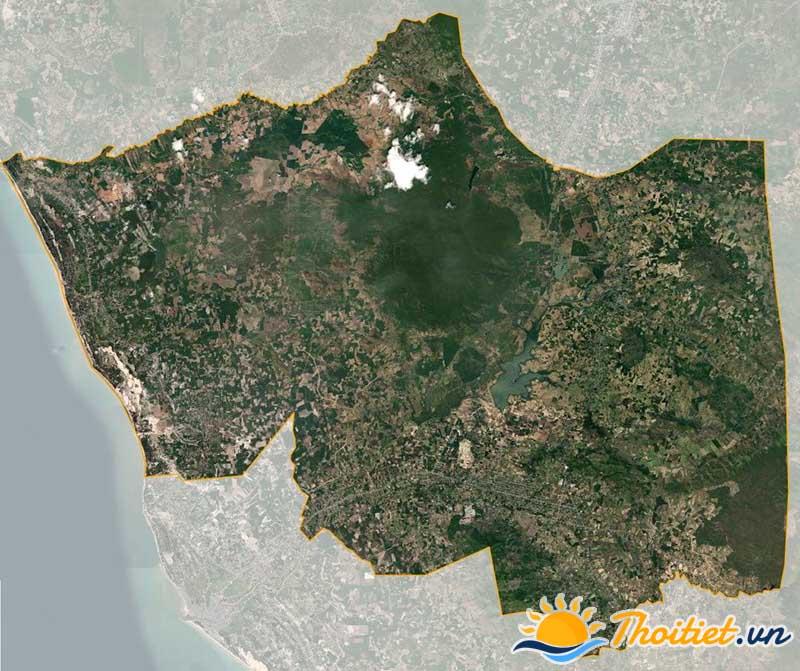 Bản đồ vệ tinh của huyện Hàm Tân