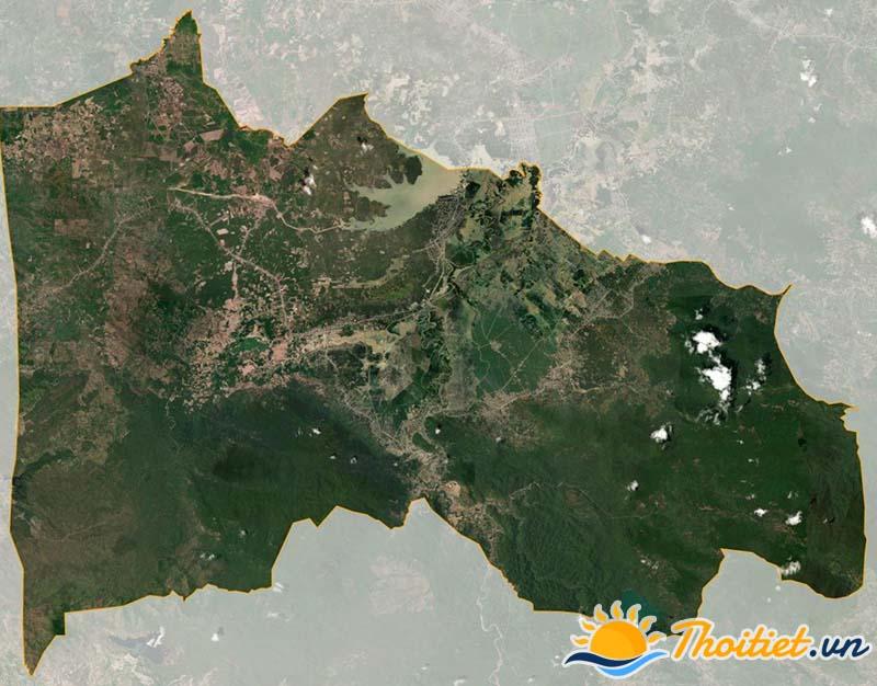Bản đồ vệ tinh của huyện Tánh Linh