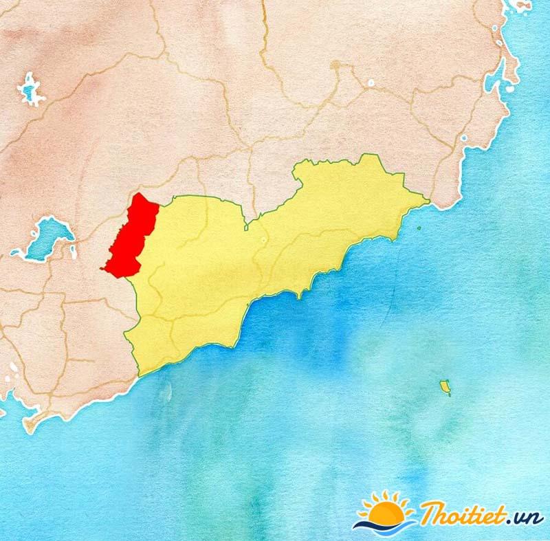 Bản đồ địa giới của huyện Đức Linh