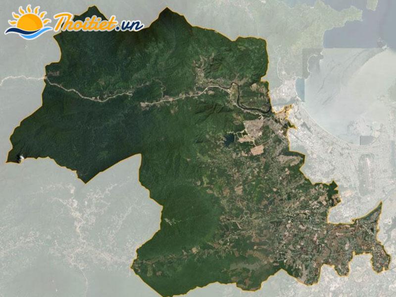 Bản đồ vệ tinh của huyện Hòa Vang