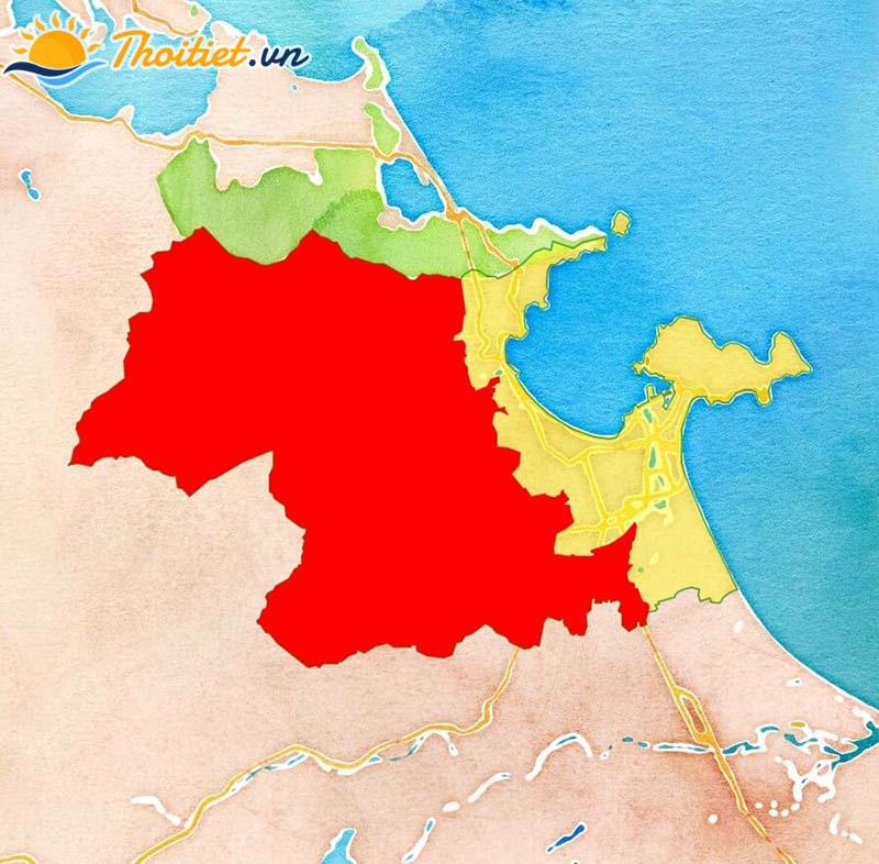 Bản đồ địa giới, vị trí của huyện Hòa Vang