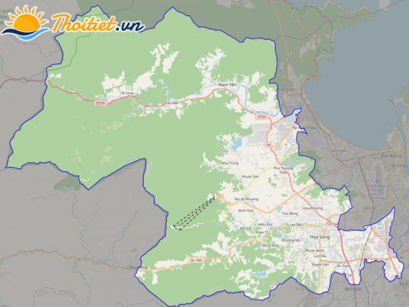 Bản đồ giao thông của huyện Hòa Vang
